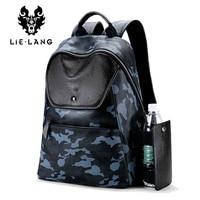 LIELANG Leather Backpack Men Computer Backpacks Waterproof Bags for Men Fashion Travel Bags Teenager School Bag Rucksack