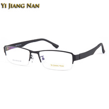 Yi Jiang Nan Brand Alloy Frame TR 90 Temple Wide Frame Big Face Mens Eyeglasses Frames for Large Face Males(China)