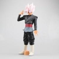 Anime Dragon Ball Super Saiyan Goku Rosa Capelli 32 cm #3101 Action Figures Bambole Modelli CollectionToys Per I Bambini
