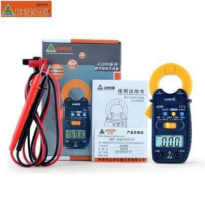 HONEYTEK A3399 Mini pince numérique multimètre mètre testeur courant ca/cc tension résistance capacité fréquence testeur Detectio