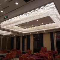 Большой лобби проекта кристалл лампы прямоугольная вилла отдела продаж Банкетный зал ювелирный магазин потолочный светильник пользовател