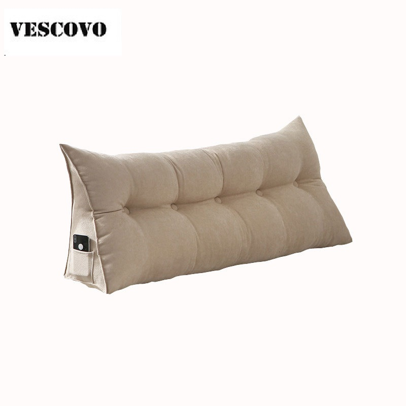 Cotton Long Double Pillow Seat Cushion For Bed Backrest Large Waist
