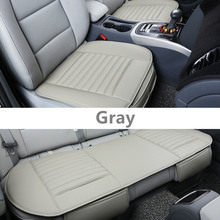 GSPSCN 3Pcs/Set PU Leather Car Seat Cover Striped Bamboo Charcoal Car Seats Cushion Cover For Healthy For Four Seasons