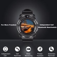 V8 SmartWatch Bluetooth Smartwatch Touch Screen Wrist Watch with Camera/SIM Card Slot, Waterproof Smart M2 A1 VS DZ09 X6
