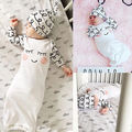 Lindo Bebé de Algodón Ojos Soñolientos + Mejillas rosadas Vestido Del Equipo Del Bebé Sombrero Infantil Mamelucos Recién Nacidos Regalo 2 unids Conjunto
