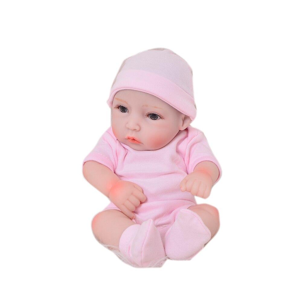 11/'/' Soft Silicone Full Body Handmade Dolls Mini Reborn Baby Girl Gifts Lifelike