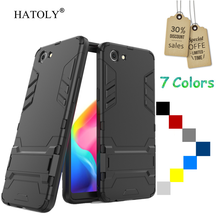 HATOLY For Cover Oppo Realme 1 Case Oppo Realme1 Case Rubber Robot Armor Slim Hard Back Phone Case for Oppo Realme 1 Cover 6.2″