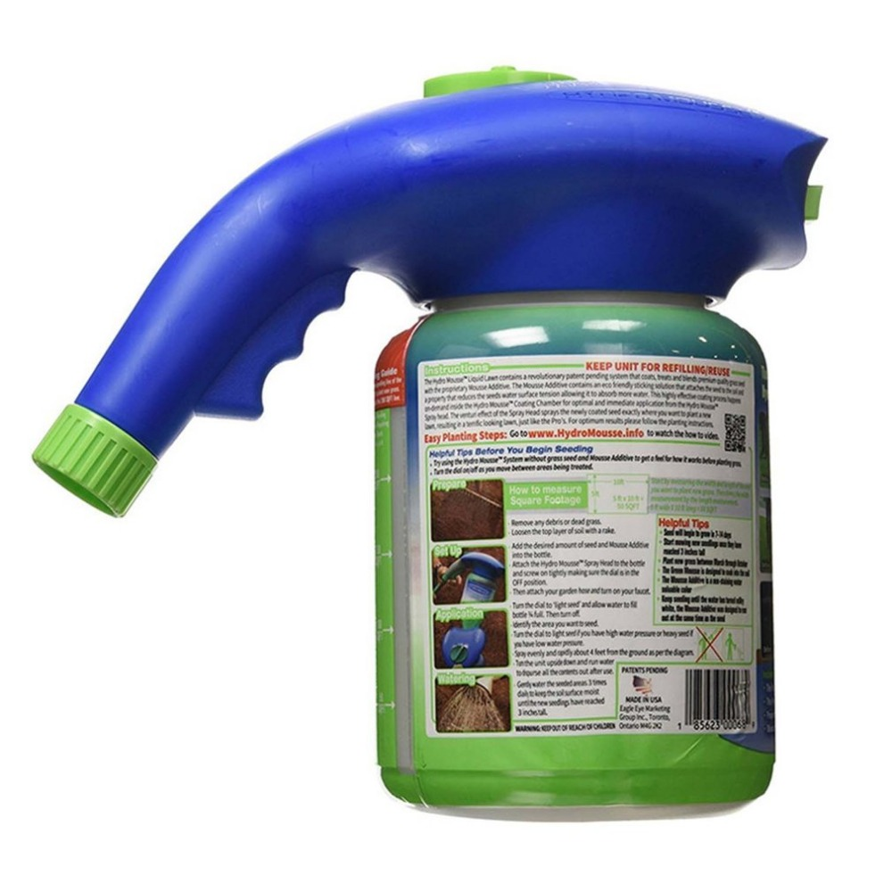 Gardening Seed Sprinkler Lawn Hydro Mousse Household Hydro Seeding System Grass Liquid Spray Device Seed Lawn Care Watering