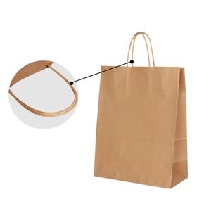 Image 4 - 30 قطعة/الوحدة 4 حجم كرافت ورقة حقيبة مع مقابض لحفل زفاف ملابس عصرية هدايا متعددة الوظائف بالجملة