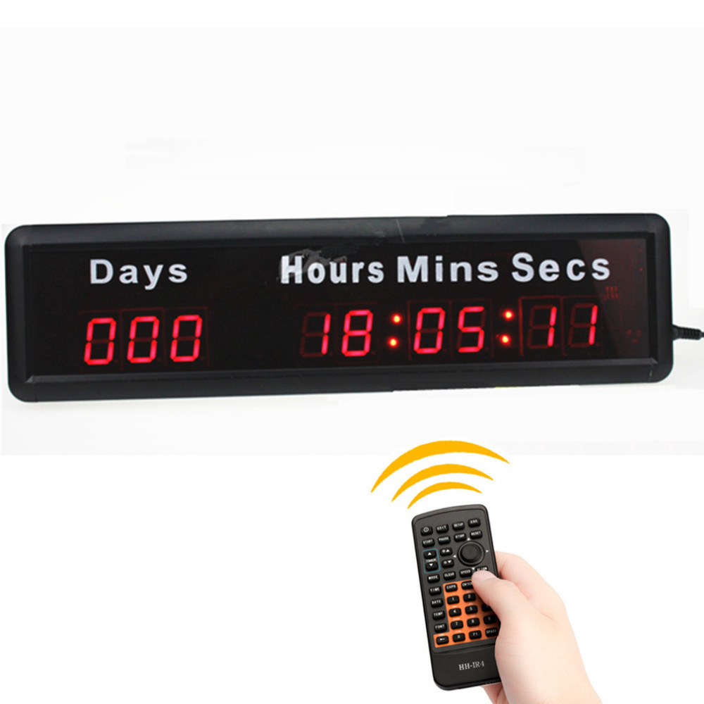 US $99 0 |1 inch Led Digital Display DDD HH: MM: SS Days hours minutes  seconds Electronic Led Clock Games Countdown Timer Task Countdown-in LED