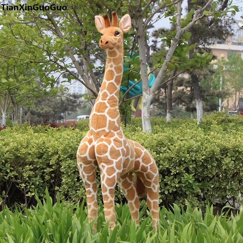simulation giraffe large 140cm standing giraffe plush toy soft doll throw pillow birthday gift s0470 стоимость