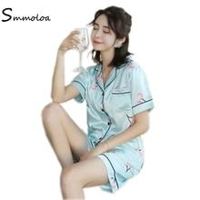 Smmoloa Women Silk Pajamas Floral Print Sleepwear Pyjamas 95kg Can Wear  3Xl-5XL Over Size bd57b4368