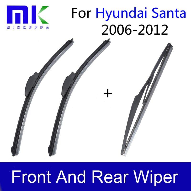 Mikkuppa Wiper Blades For Hyundai Santa Fe Accessories 2006 2007 2008 2009 2010 2011 2012 набор автомобильных экранов trokot для hyundai veracruz 2006 2012 на заднюю полусферу 5 предметов