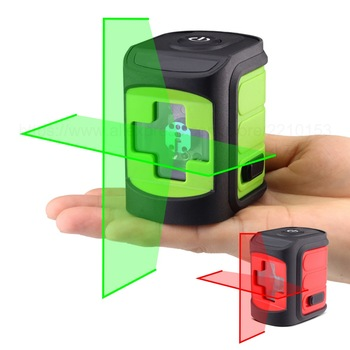 Red/Green Beam Laser Level Self-Leveling Horizontal and Vertical Cross Line Portable Mini Level Meter 2 lines borbede laser level self leveling 2 red horizontal and vertical laser cross lines super mini pocket size