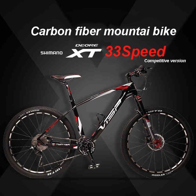 Carbon Fiber Mountain Bike >> Us 753 89 9 Off 26 27 5 Inch Carbon Fiber Mountain Bike Bike Xt 30 33 Speed Forklift Brake Mountain Bike Carbon Fiber Frame Off Road In Bicycle