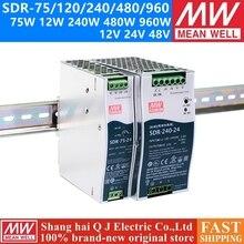 MEAN WELL SDR-75 120 240 480 12 V 24 V 48 V meanwell SDR-480-480 P- 960 12 24 48 V PFC Single Output Industrie DIN Rail