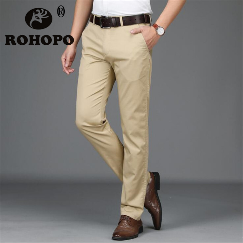 Casual Full Length Pant Spring Autumn Solid Business Man 2019 Mens Pans Fashions Men Autumn Tactical Military Style Clothing