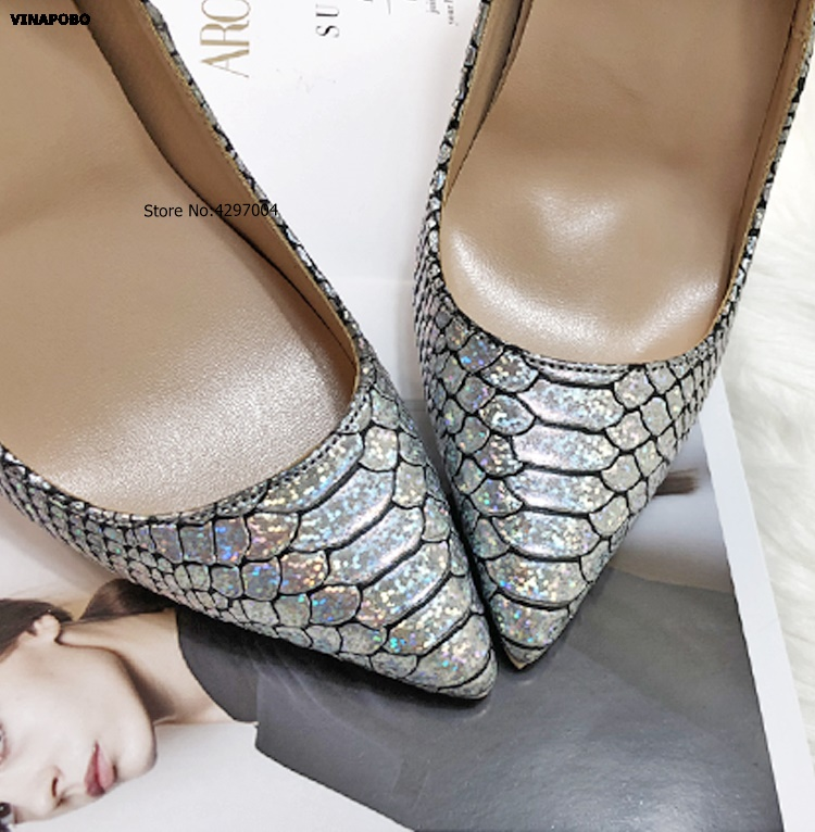 silver Printed High Shoes 9