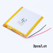 3pc/Lot 357595 3.7V 3000mAh Polymer Li-ion Battery For Consumer electronics PDA Tablet PCs Digital Products power bank 357696