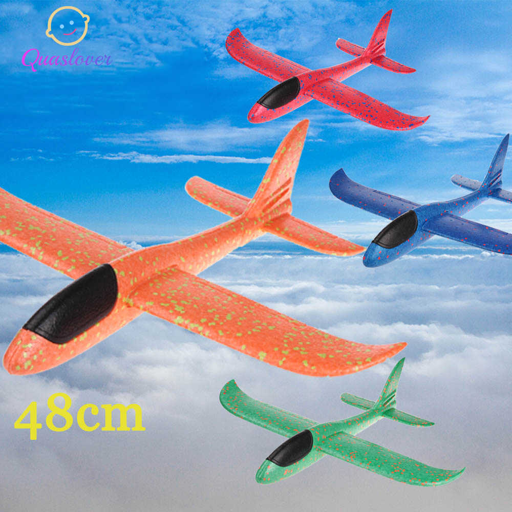 Kids Toy Airplane Foam Hand Throw Plane Glider Toys DIY Planes Airplane Flying Plane Toy Outdoor Games Toys for Boys Girls
