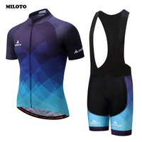MILOTO Team Summer Bike Clothing Set Men S Ropa Ciclismo Cycling Jersey Padded Cycling Bib Shorts