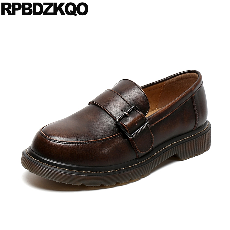 retro british style chinese loafers japanese school flats wide fit shoes ladies 2019 slip on china brown vintage designer womenretro british style chinese loafers japanese school flats wide fit shoes ladies 2019 slip on china brown vintage designer women