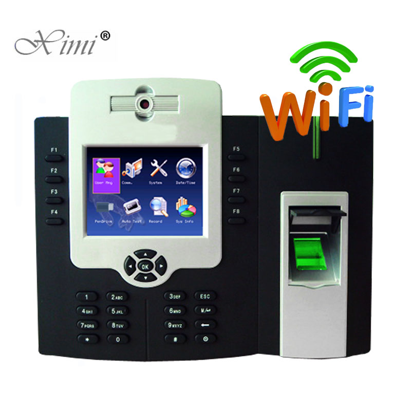 WIFI TCP/IP Fingerprint Time Attendance And Access Control System With Backup Battery ZK ICLOCK880-H Biometric Time Recording