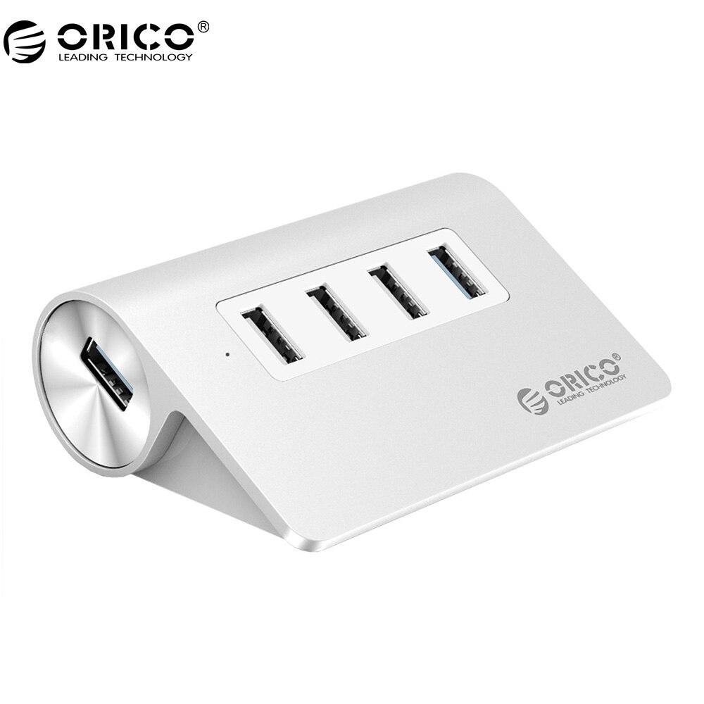 ORICO M3H4 USB HUB 4 Port USB 3.0 HUB and 1 Port USB3.0 5Gbps and 3 Ports USB2.0 480Mbps Aluminum Alloy Desk Hub Mac Design цена и фото