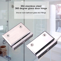 Heavy Duty 360 Degree Glass Door Hinge Cupboard Showcase Cabinet Clamp Glass Shower Doors Hinge TB Sale
