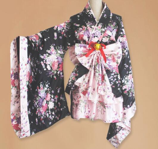 1setlot woman anime cosplay japanese kimono lolita costume female japanse costumes dress  halloween costumes for women