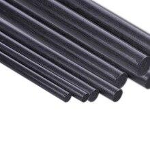 5pcs Carbon Fiber Rod Dia 1mm 2mm 3mm 4mm 5mm 6mm 7mm 8mm 10mm 11mm 12mm