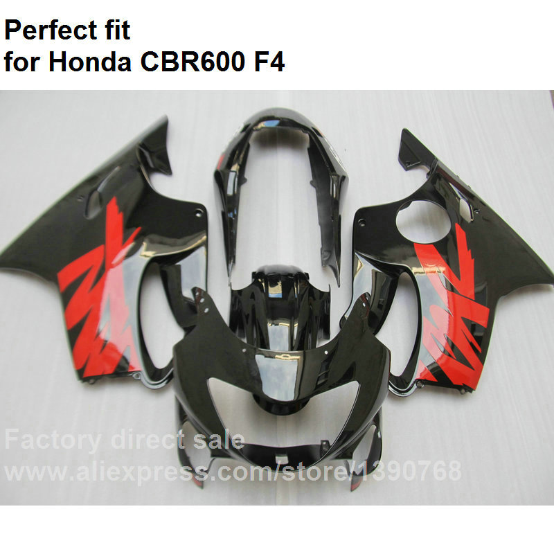 Motorcycle fairing kit for Honda CBR600 F4 1999 2000 black red fairings CBR 600 F4 OL31 custom motorcycle injection fairing kits for honda 1999 2000 cbr600f4 cbr600 f4 cbr 99 00 600 f4 red blue bodyworks fairngs kit