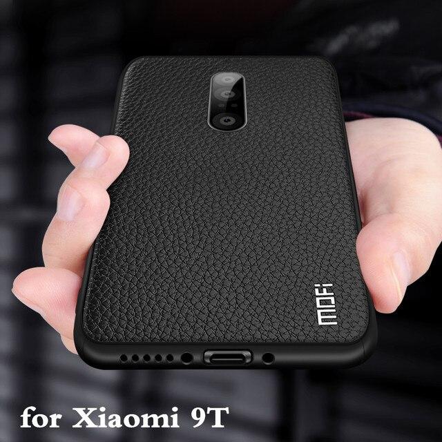 Funda de silicona suave para Xiaomi 9 T carcasa trasera para 9 T, carcasa MOFi 9 t, TPU, cuero de PU, borde completo, anticaída, Xiomi