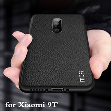 for Xiaomi 9T Case Mi 9T Cover for 9t Back Housing MOFi Coque 9 T TPU PU Leather Soft Silicone Full Edge Anti Drop Xiomi
