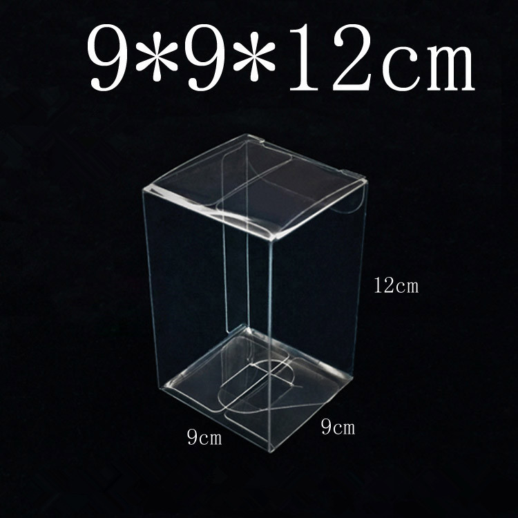 50Pcs Lot 9x9x12cm Square Transparent Plastic Gifts Boxes for Wedding Favor Gifts and Christmas Presents Storage
