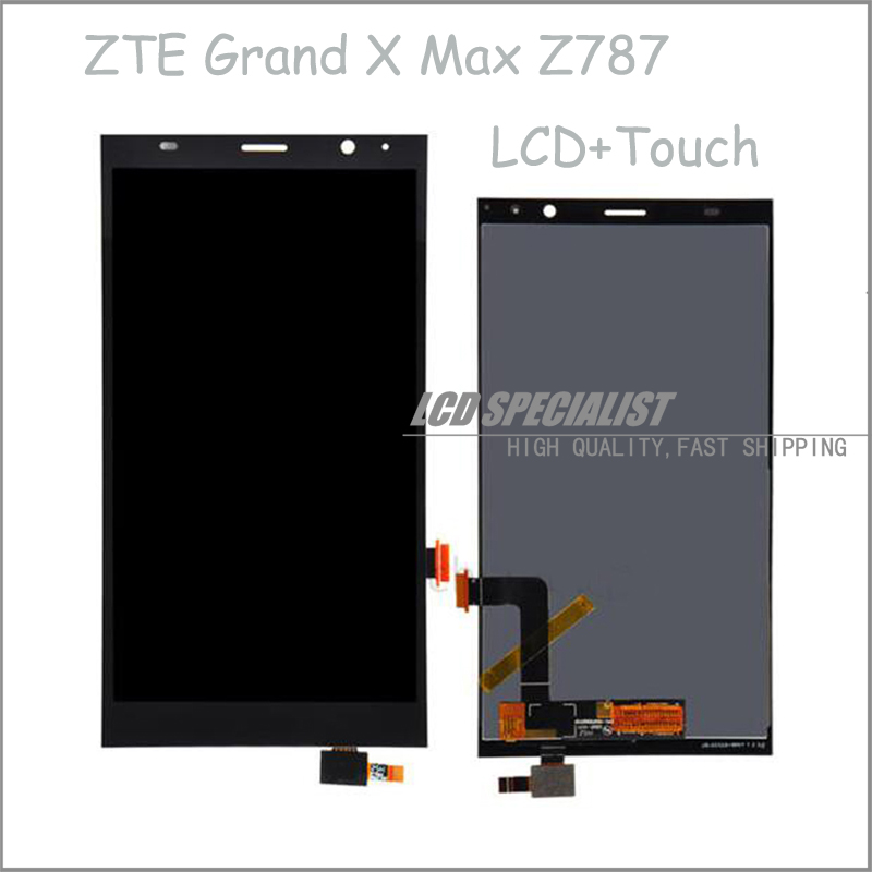 6 Inch Black LCD Display+Touch Screen Digitizer Full Assembly For ZTE Grand X Max Z787 Repartment
