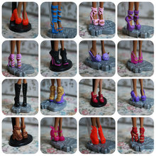 AILAIKI SALE 10Pairs/Lot Toy Fashion Shoes For Monster Dolls Beautiful High Heels Monster Doll Sandals Boots Mixed-Style Shoes