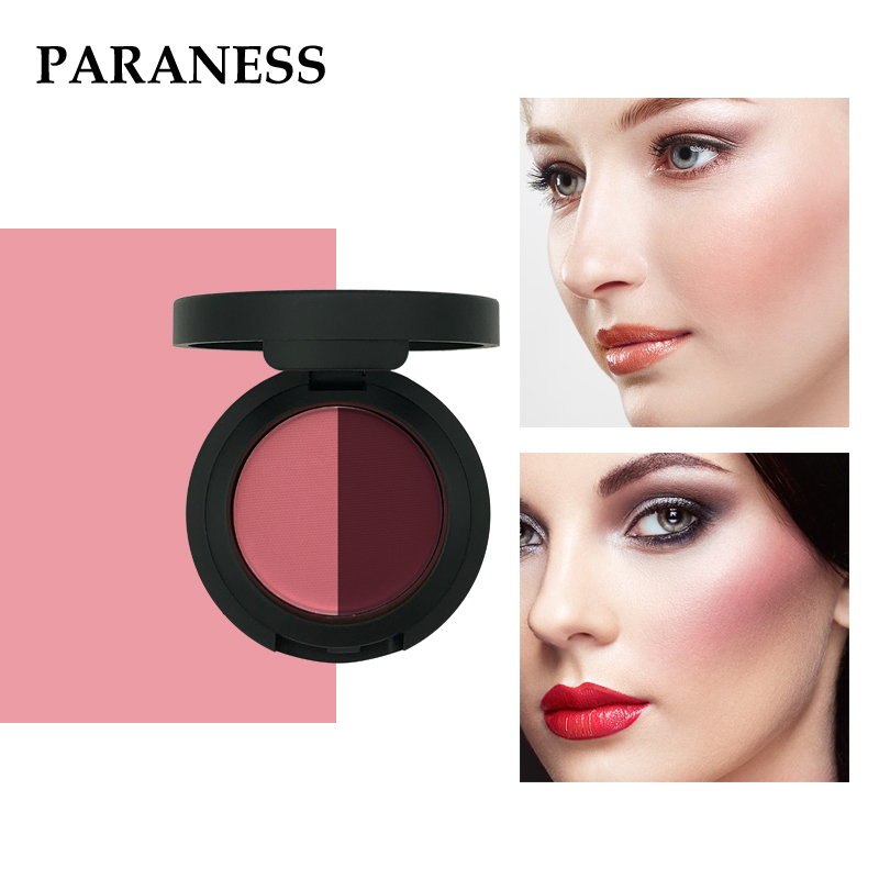 Paraness Fashion Woman Makeup Blush Palette Matte Blusher Face Powder Blush Rouge Beauty Luxury Make Up Products Nude 6 Colors