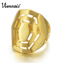 Viennois Fashion Jewelry Gold Color Hollow Out Finger Rings For Women Luxury Size Ring New