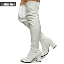 Wome sexy fashion new Spring autumn over-the-knee high top ladies elegant boots thin heels high-heeled shoes large plus size