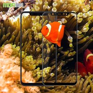 Image 5 - Mi8 закаленное стекло MOFI 3D изогнутое для Xiaomi Mi 8 Защита для экрана полное покрытие HD защитная пленка Защита ЖК экрана ударопрочное стекло