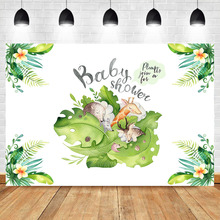 NeoBack Animal Jungle Theme Baby Shower Photography Backdrops Newborn Cake Background Flower Dessert Table Decorate Props