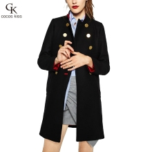 2016 New Winter Fashion High Quality Double Breasted Woman Coat ...