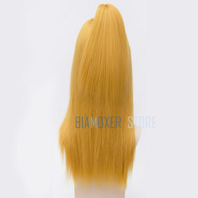 Image 4 - Naruto Akactuki Cosplay hair wig halloween Deidara cosplay wig for men Long Gold wigs hairpiece costume-in Anime Costumes from Novelty & Special Use