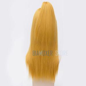 Image 4 - Naruto Akactuki Peluca de pelo Cosplay para hombre, peluca larga, peluca doradas para disfraz