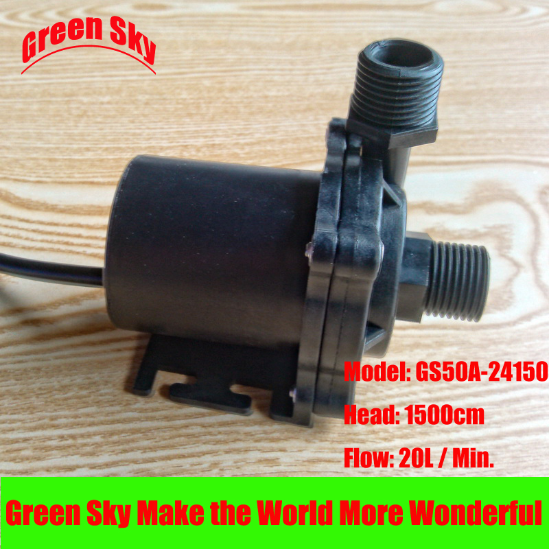 цены 20L/Min 1500cm Head 24V DC 84W Submersible fountain aquarium heating brushless hot water circulating pump