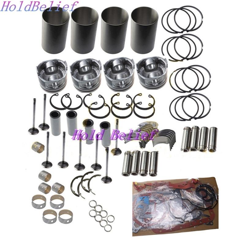 Rebuild Kit For Isuzu 4BG1TAB Engine Fit Foir Hitachi EX120 EX130 LX70-7 Loader