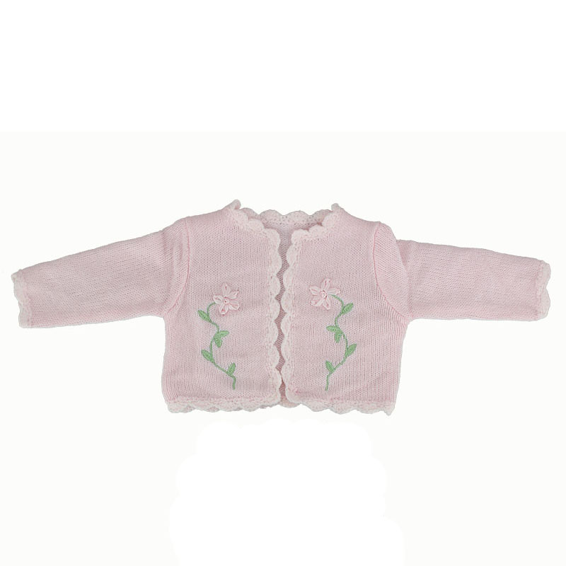 Pink Flower Sweater Doll Clothes Wear for 43cm Baby Born zapf,Children best Birthday Gift(only sell clothes) цены онлайн