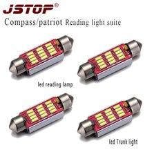 JSTOP 4piece/set Compass patriot light 12VAC  Lights led autolight festoon 41mm c5w canbus lamp bulbs