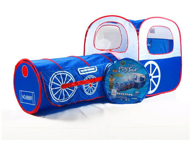 Kid Toddler Portable Tunnel Play House Deluxe Tent Train Playhouse Toy Outdoor And Indoor tent Tunnel 2 in 1 Children Play House new arrival indoor outdoor large children s house game room children s toys 3 in 1 square crawl tunnel folding kid play tent